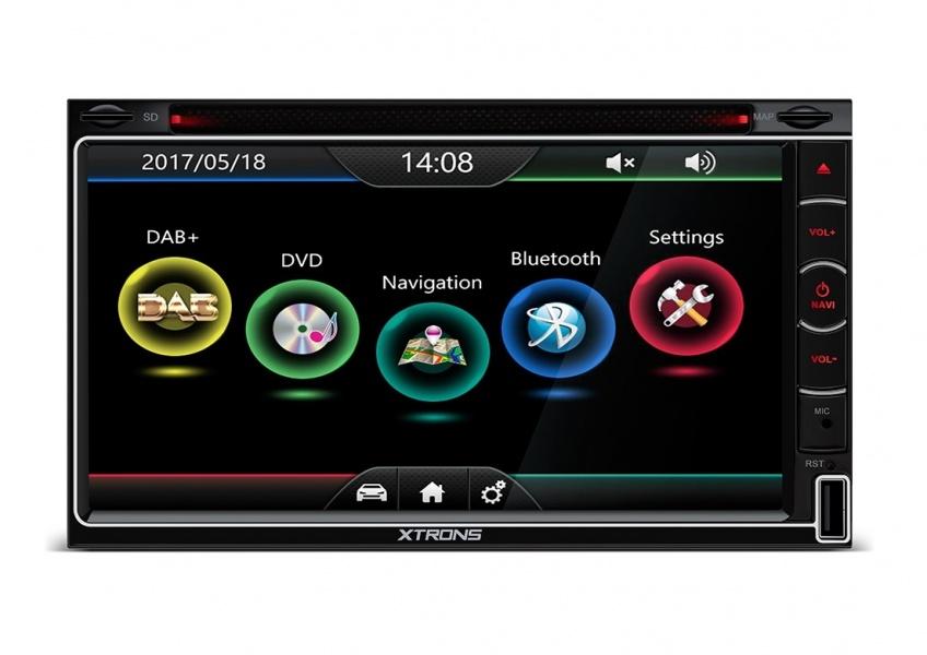 0 Xtrons - 2DIN universal spiller med GPS og DAB+